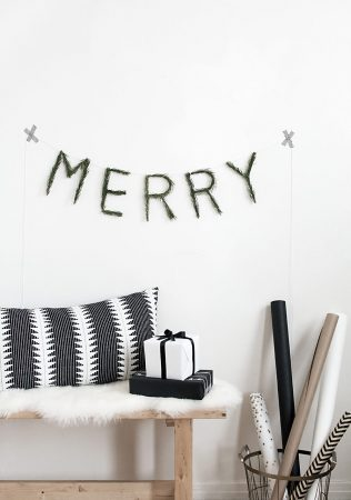 Make it: A Merry Evergreen Garland