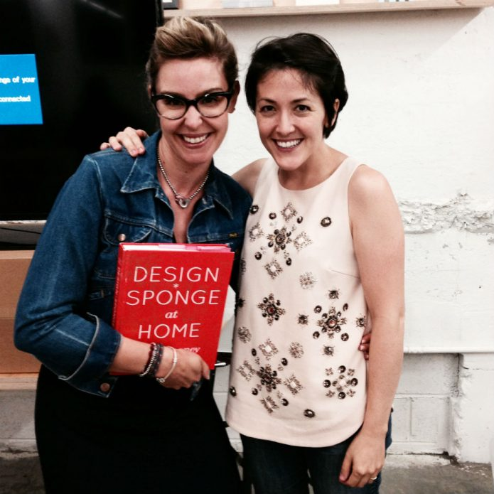 Design Sponge's Grace Bonney and me