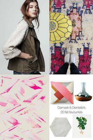 Shopping: Damask & Dentelle's 20 Fall Favourites
