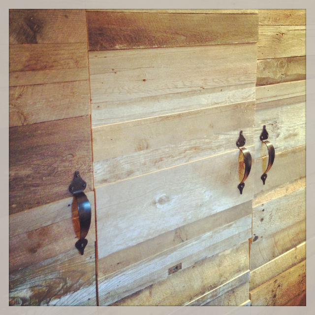 barn wood doors as a custom wardrobe