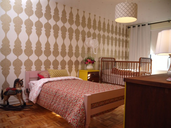 ecclectic shared bedroom