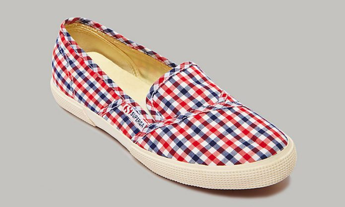 gingham slip on