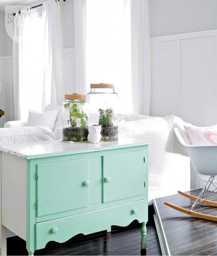 mint_green_upcycled_chest_of_drawers
