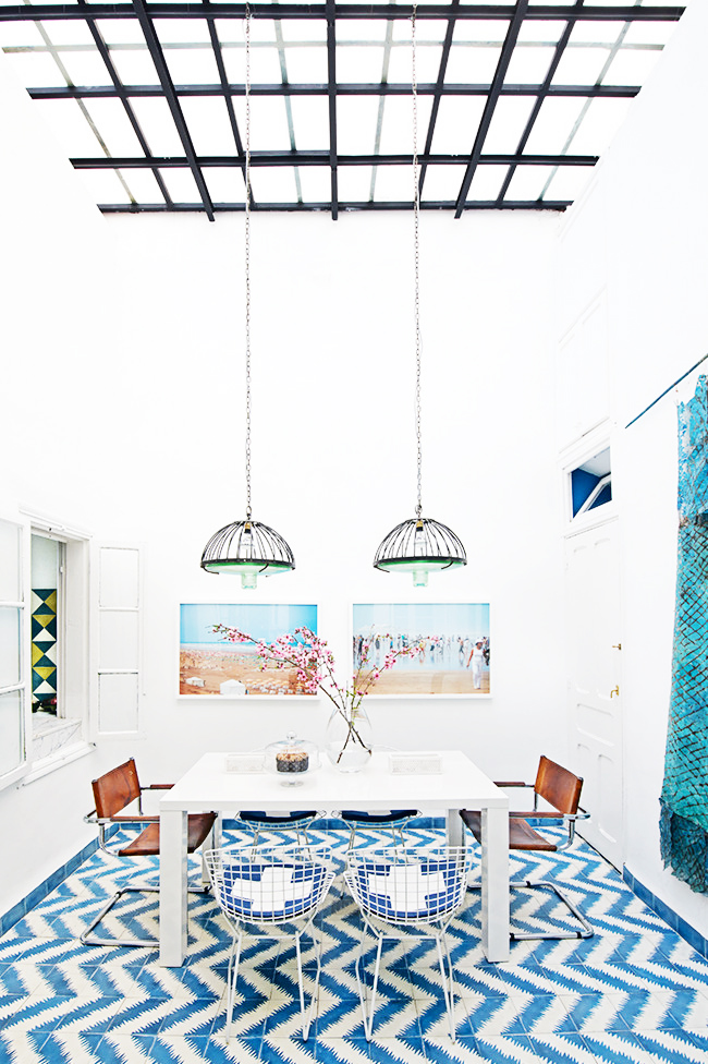 patterned home in morocco