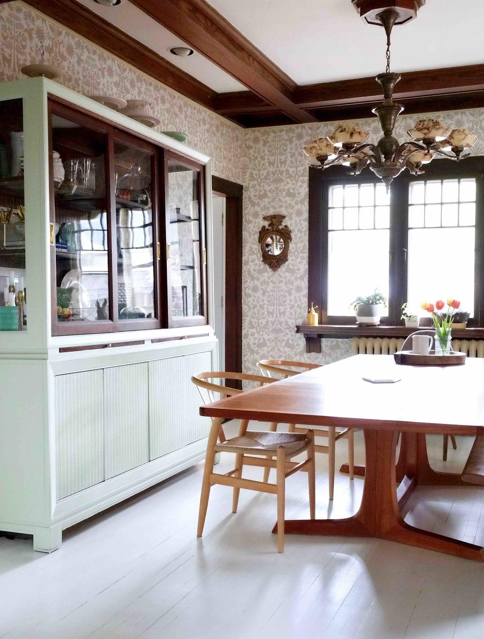 Ma salle manger revamp e avec premier damask dentelle blog - Ma salle a manger ...