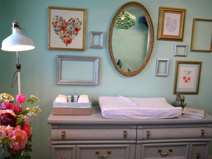 chambre de b b vert menthe. Black Bedroom Furniture Sets. Home Design Ideas