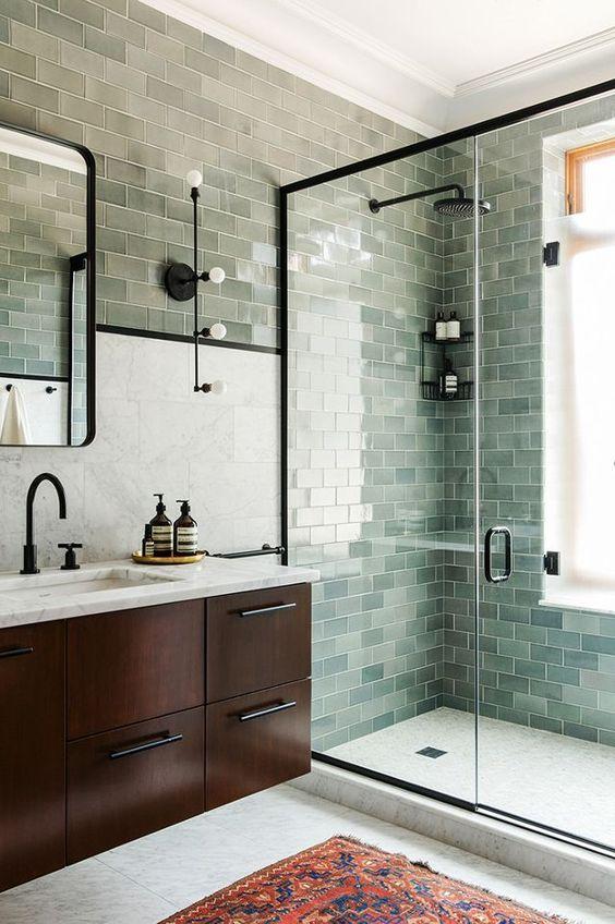 salle de bain, vert sauge, inspiration