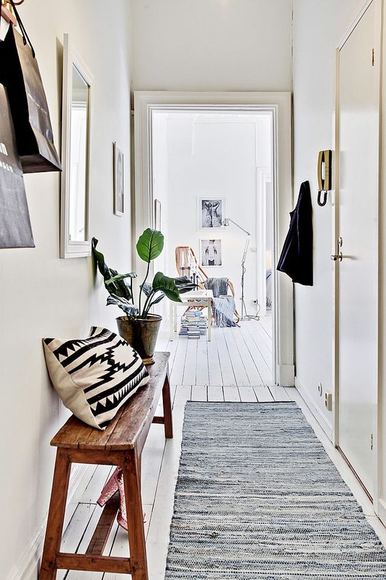 couloir, tapis, carpette, inspiration, decor