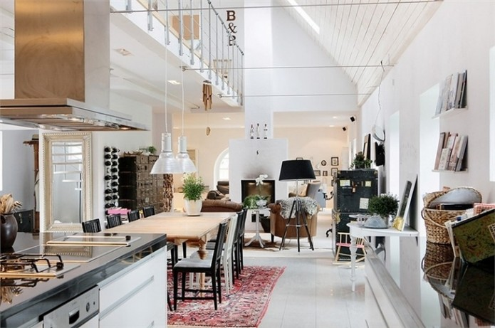 Scandinavian loft living interior design ideas home for Scandinavian design philosophy