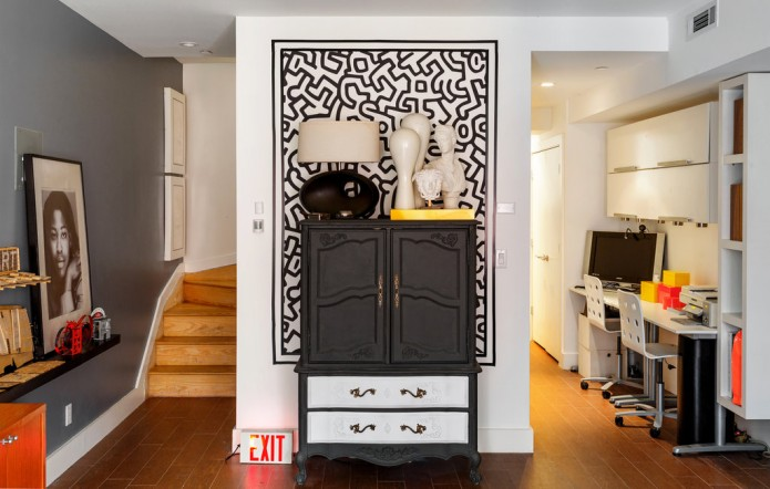black and white dresser in Designers Teran & Teman's Brooklyn Home