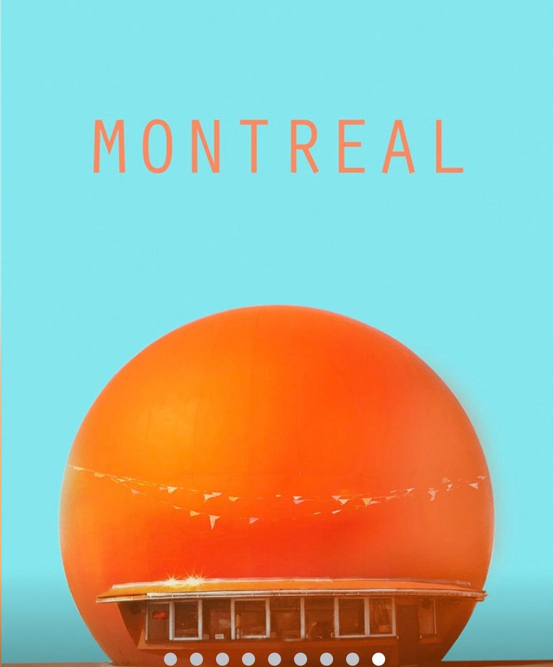 Etsy Montréal, illustration, Montréal, Circular Squares