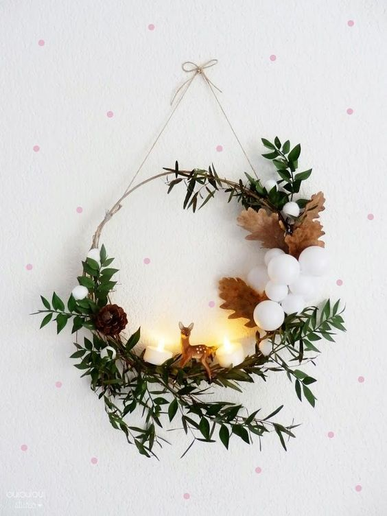 couronne de noël, noël, diy, craft