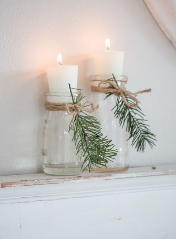 bougie, diy, chandelle, noël