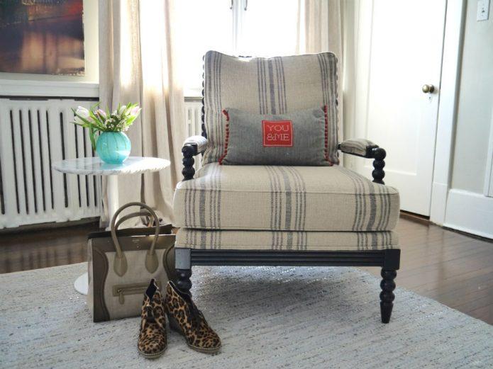 Ethan Allen chair and Avoca pillow