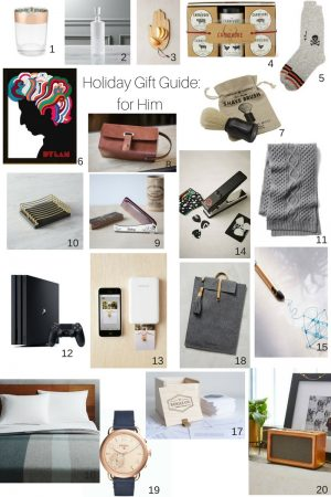 Holiday Gift Guide: 20 Ideas for Him
