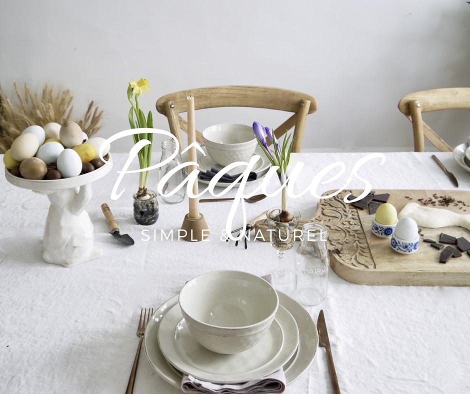une table pour le brunch de p ques simple et naturelle. Black Bedroom Furniture Sets. Home Design Ideas