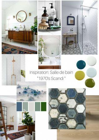 Ma salle de bain sort des années '50: l'inspiration