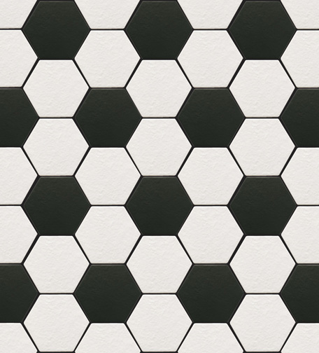 beehive black and white tile