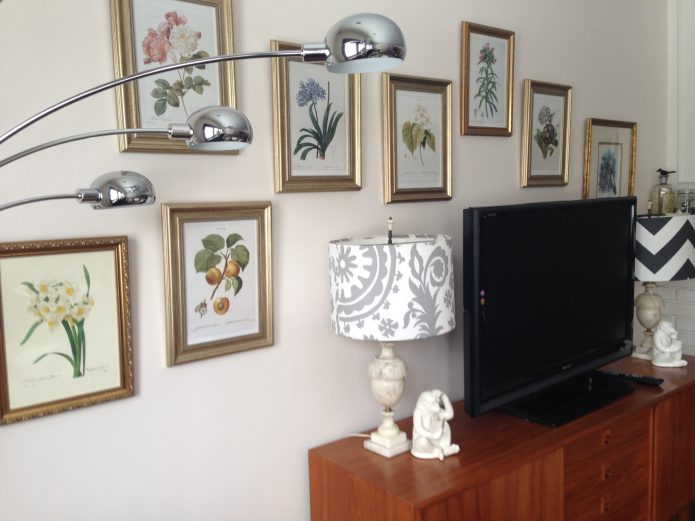 botanical prints in my living room