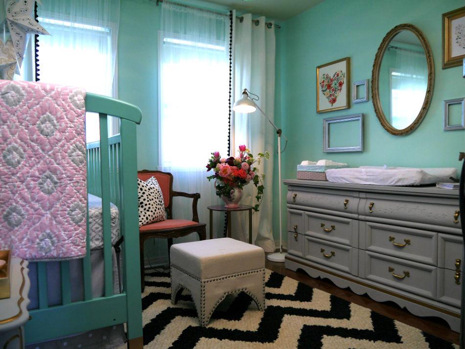 chambre de b233b233 vert menthe