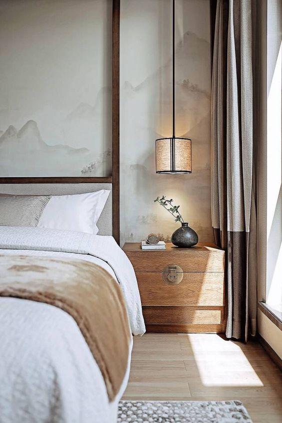 chine, déco, inspiration, chambre à coucher