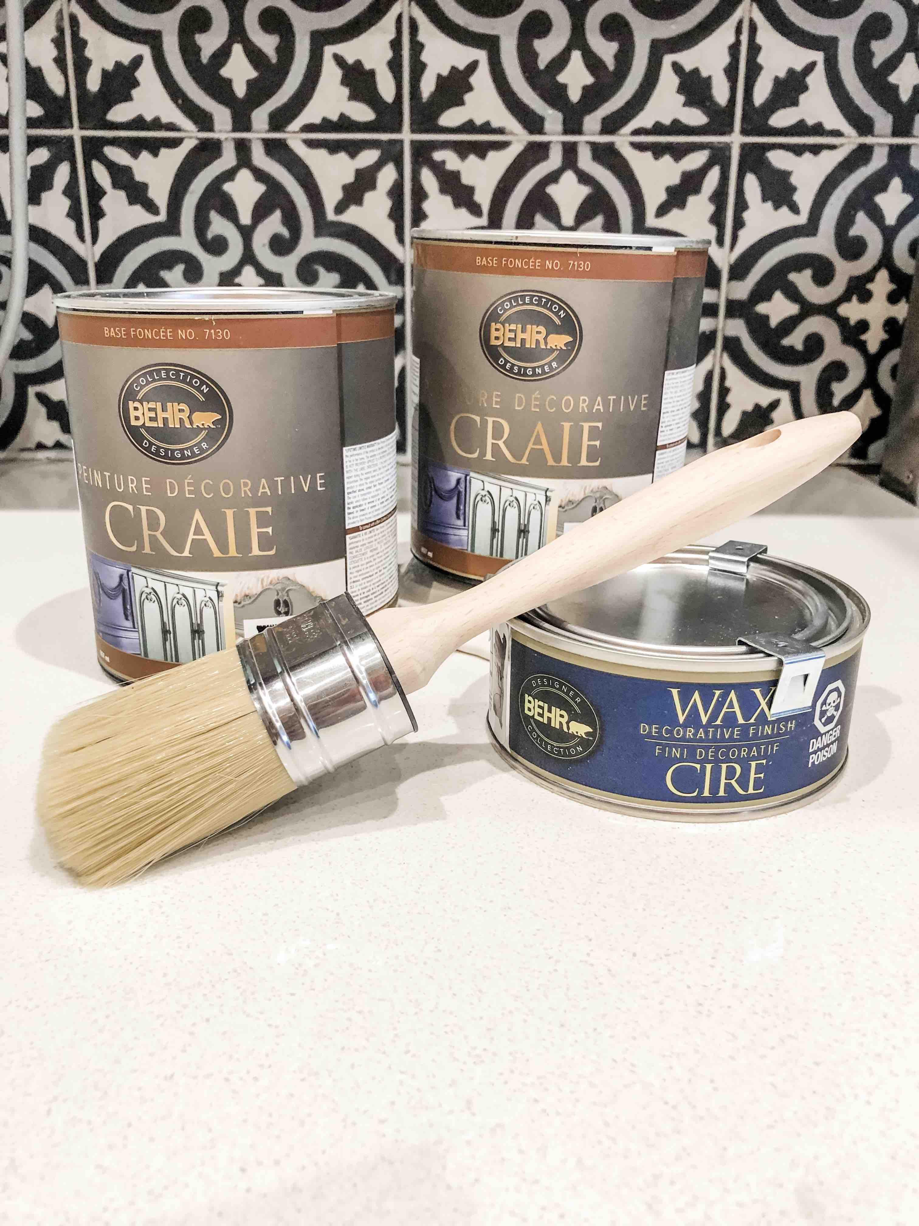 Comment Peindre De La Dentelle ma cuisine change de look avec la peinture-craie décorative