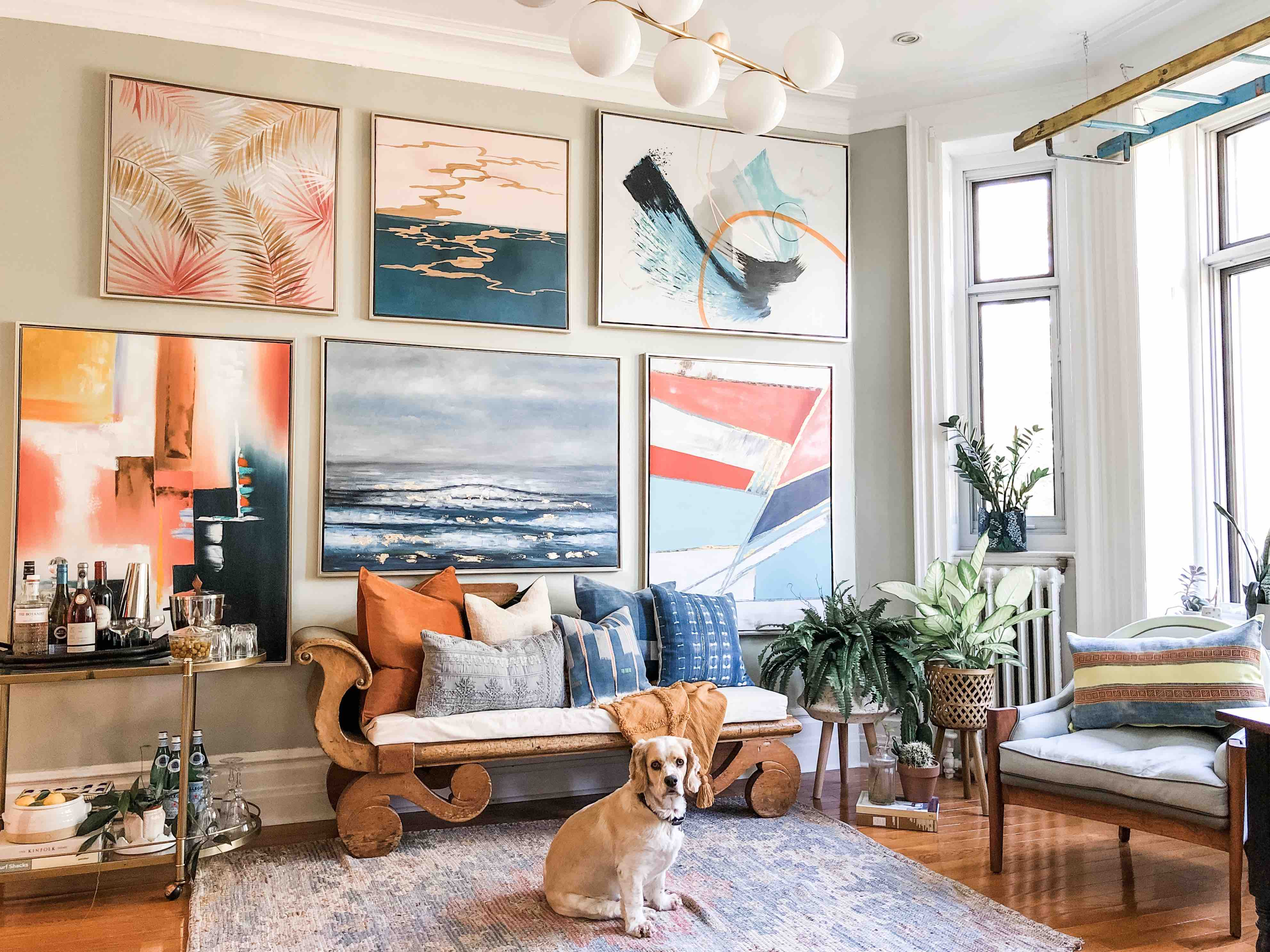 6 Ways To Nail Your Gallery Wall With Oversized Art
