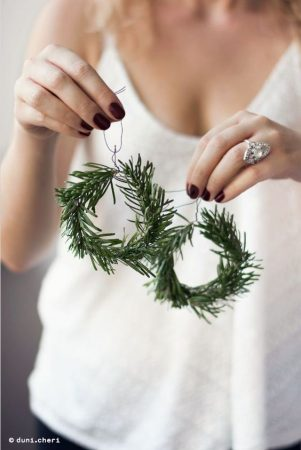 couronne, marque-places, sapin, diy
