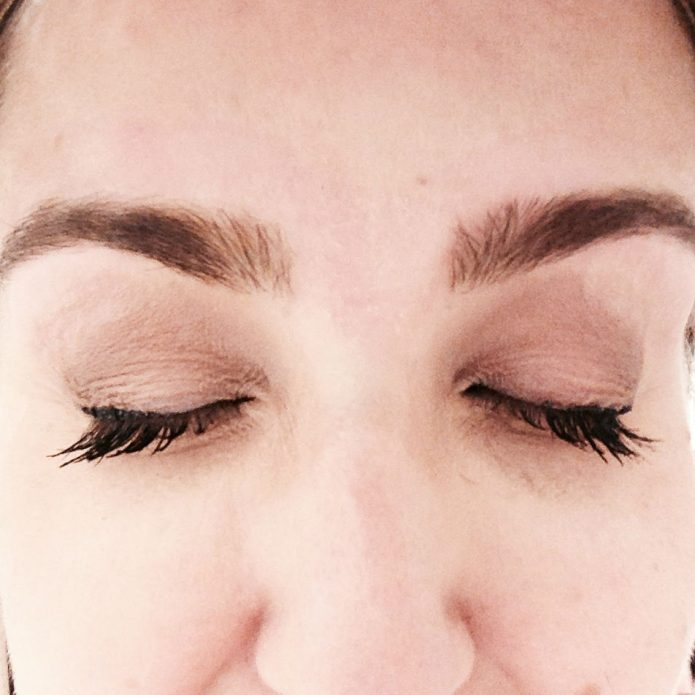 giving my eyebrows a tweeze