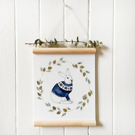 flafla design, illustration, bunny, lapin, etsy