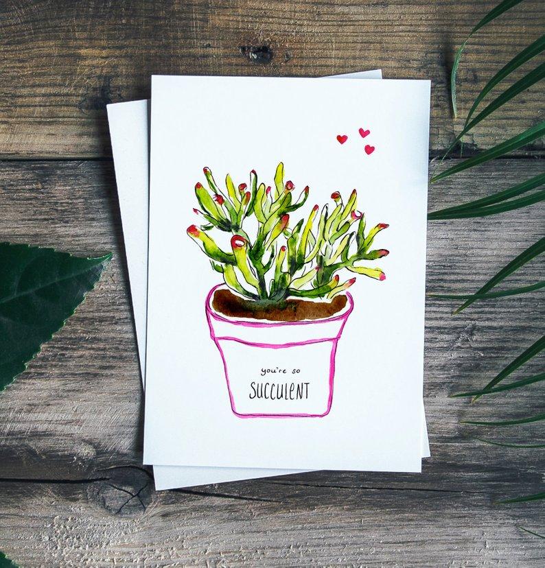 Atelier Perluette, succulentes, illustrations, montréal, esty, québec