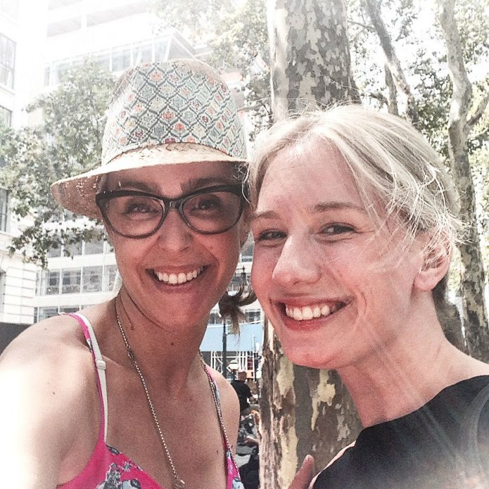 illustrator Meagan Morrison and me