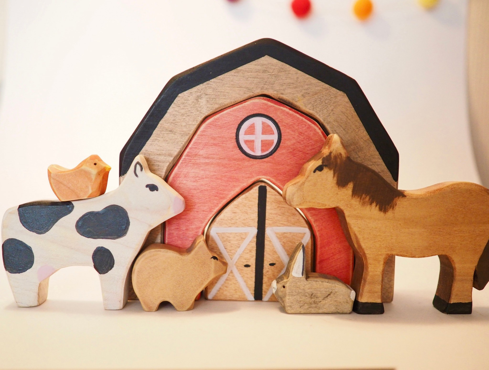kubeko, bois, jouet en bois, québec, ferme, bébé, enfant