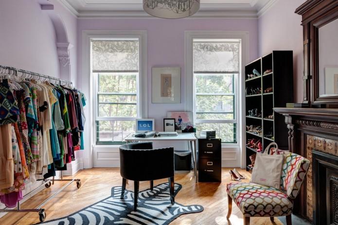 lilac dressing room