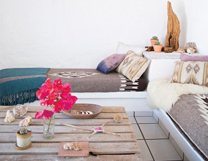 mexican retreat living room