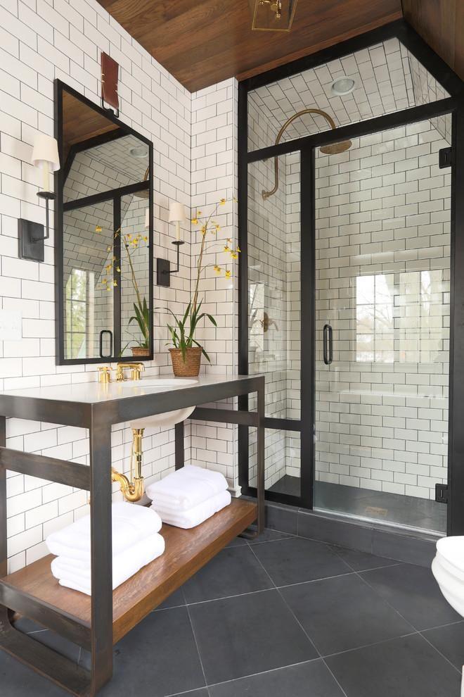 salle de bain en blanc et noir-6