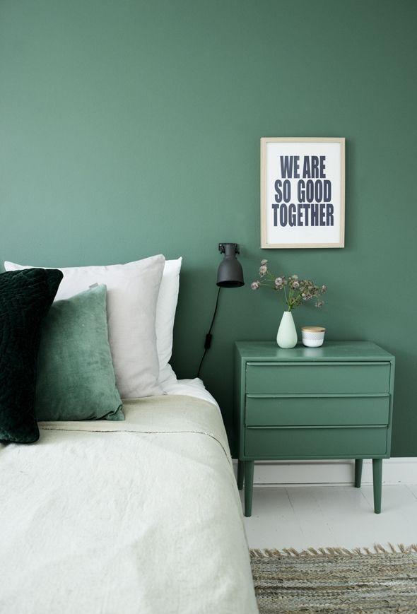 vert sauge, inspiration, chambre à coucher