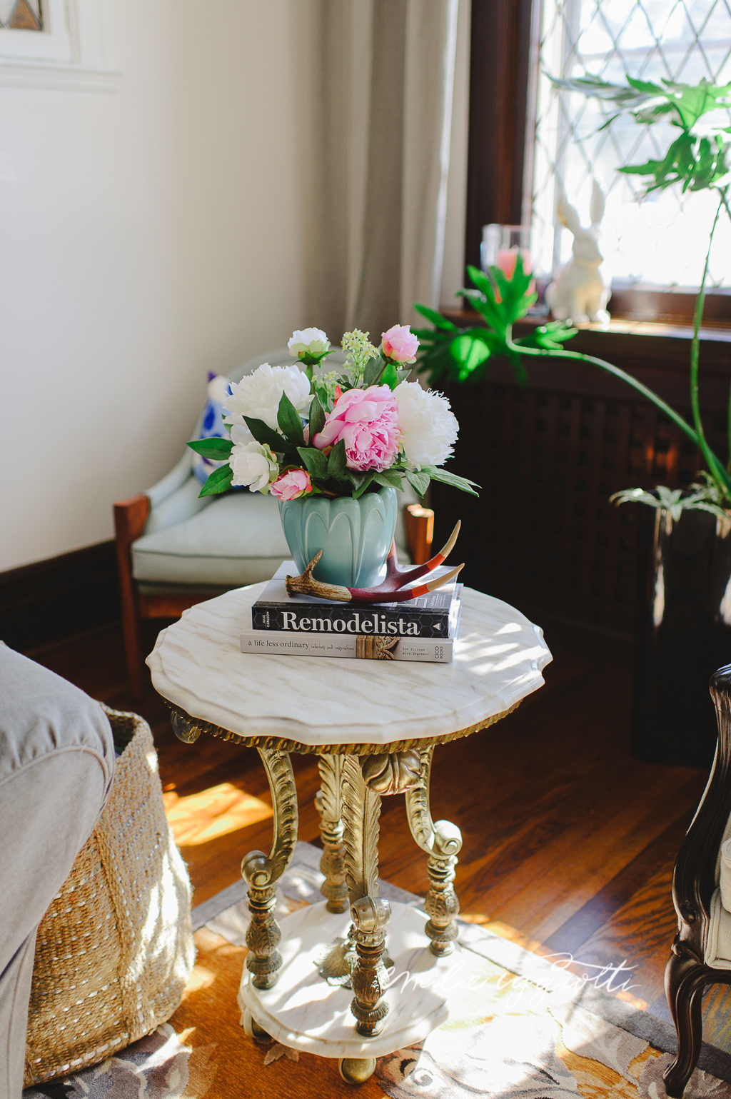 Damask Living Room Decor: A Tea With... My Living Room